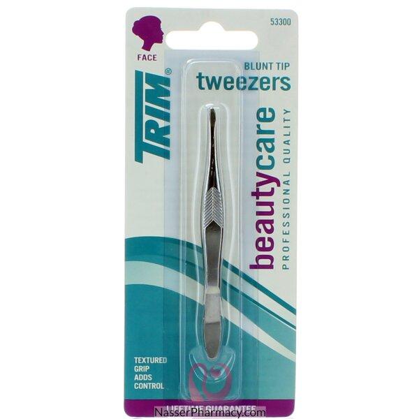Trim Tweezers Blunt Tip