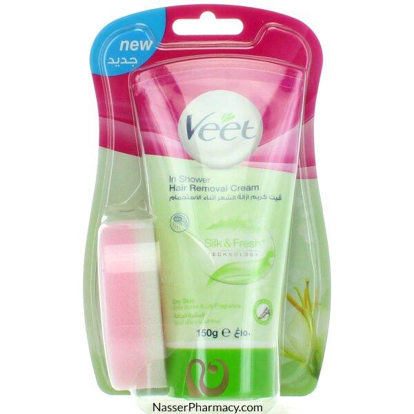 Buy Veet In Shower Hair Removal Cream Legs Body Dry Skin 150